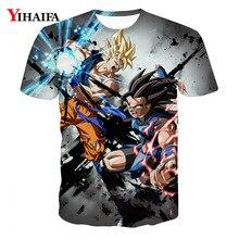 Men 3D Print T shirt Dragon Ball Z Anime Casual Tee Shirts harajuku Graphic Short Sleeve Man Tops dragon ball t