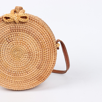 ARPIMALA 2018 Round Straw Bags Women Summer Rattan Bag Handmade Woven Beach Cross Body Bag Circle Bohemia Handbag Bali 2