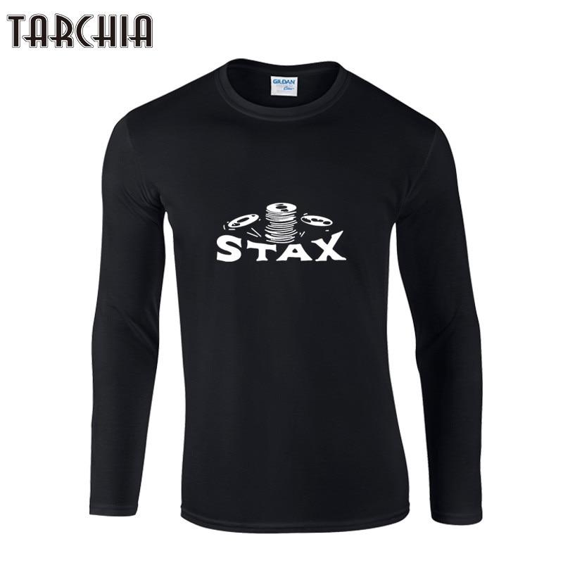 TARCHIA STAX Printed Mens Men T Shirt Tshirt Fashion 2019 Long Sleeve Cotton T-shirt Tee Camisetas Hombre Men Clothing T Shirts