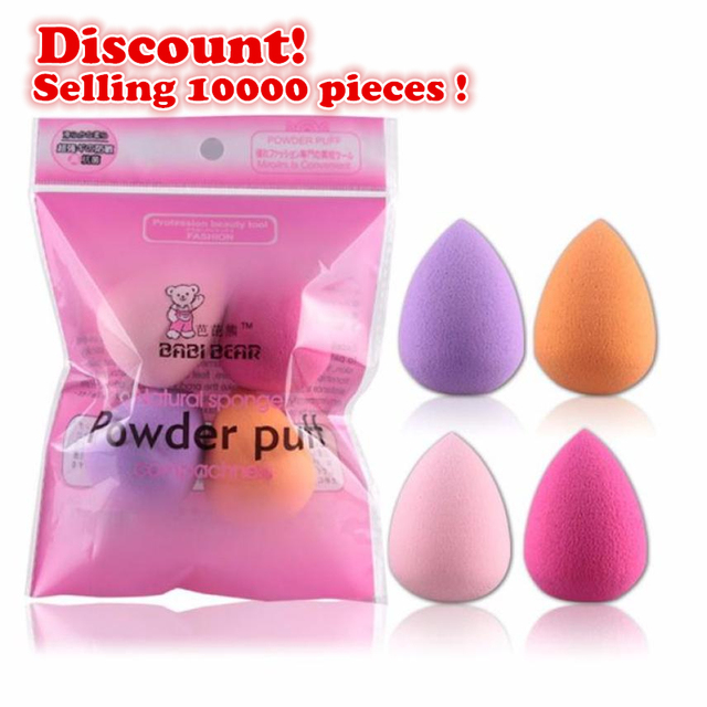MAANGE Hot Women 4pcs Professional Makeup Sponge Blush Foundation Puff Multi Shape Sponges Makeup High Quality recommend Praise