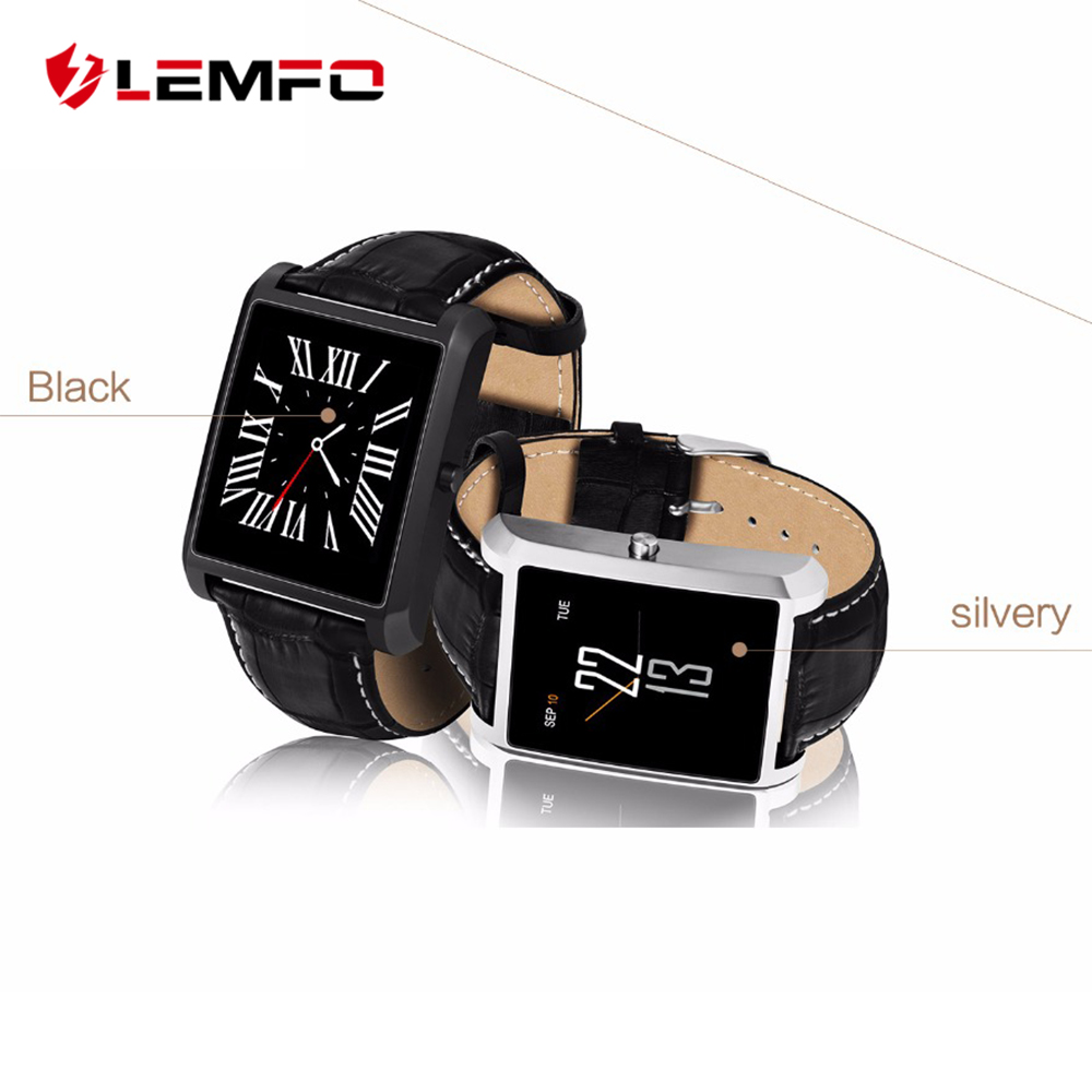 LEMFO LF20 Smart-watch <font><b>Bluetooth</b></font> Dial Call Vintage Leather Remote <font><b>Control</b></font> Camera Heart Rate Monitor For Andriod <font><b>IOS</b></font> Phone