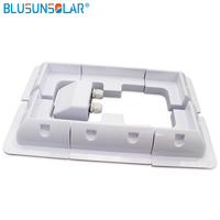 2 sets/Lot White color ABS Solar Panel Mounting Bracket Kits Cable Entry Gand Ideal 7pcs/set for Caravan Motorhome RV