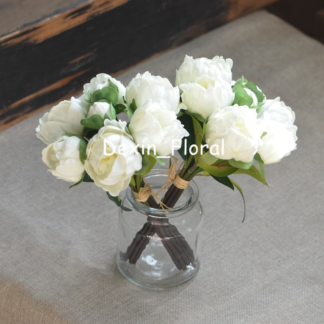 2 bundles ivory white peonies real touch peonies for diy wedding 2 bundles ivory white peonies real touch peonies for diy wedding bouquets bridesmaids bouquets wedding centerpieces junglespirit Images