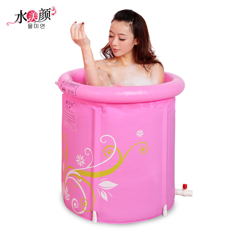 water inflatable bath tub adults folding plastic thickening bathtub baby bath banheira inflavel. Black Bedroom Furniture Sets. Home Design Ideas