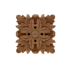 VZLX Practical Boutique Rubber Carved Onlay Applique Unpainted Furniture For Home Door Cabinet Decoration Wood Color Figurine