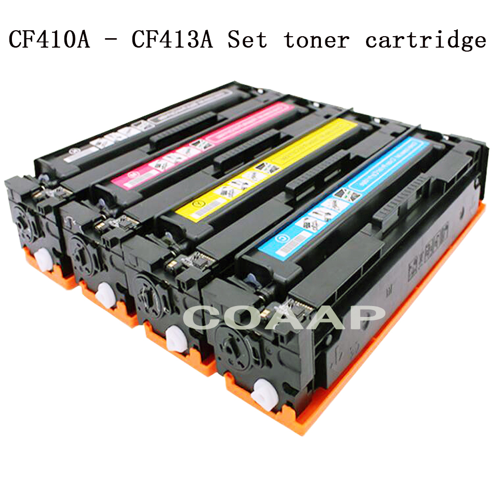 COAAP 410A 410X CF410A CF410X CF411X CF412X CF413X (4-Pack) Toner Cartridge Compatible for HP Color LaserJet Pro M452dn/M452dw/M 4 pack high quality toner cartridge for oki c9850 c9850hdn c9850n c9850dn color compatible 42918904 42918903 42918902 42918901