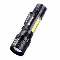 T130 Телескопический фонарик Портативный мощный практические тактический светодиодный фонарик супер яркий для Пеший туризм и кемпинга