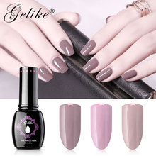 Gelike 15ml Gel Polish No Chipping And Fading UV Led Soak Off Instructions Artistic Colour Gloss LED Nail Art