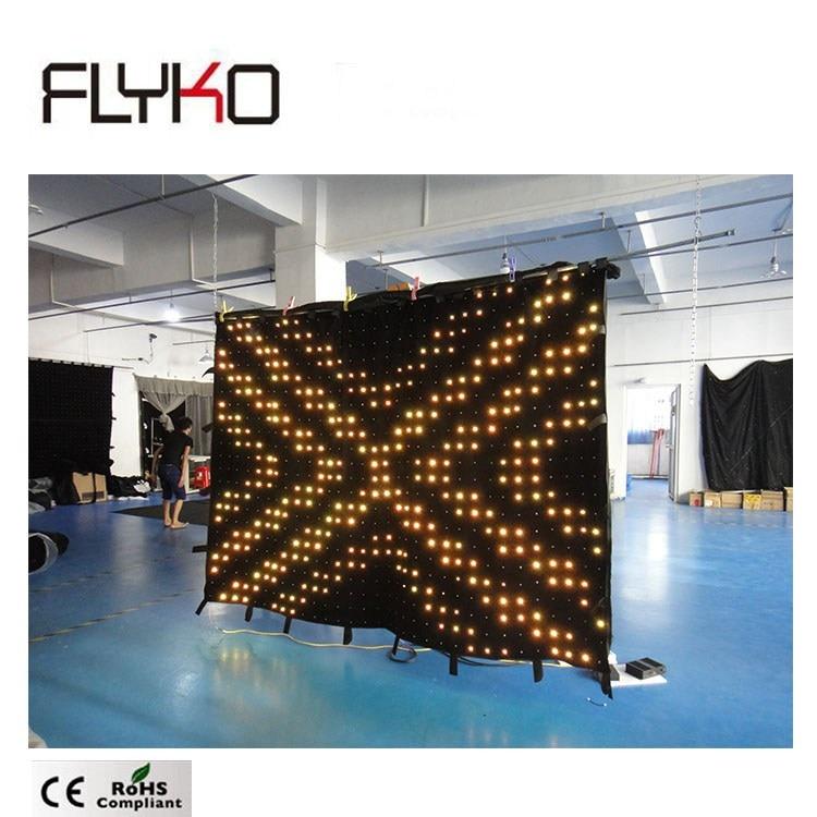 Профессиональный дизайн этапе P70mm 1*1,5 м светодио дный полноцветный световой занавес задней падение бесплатная доставка