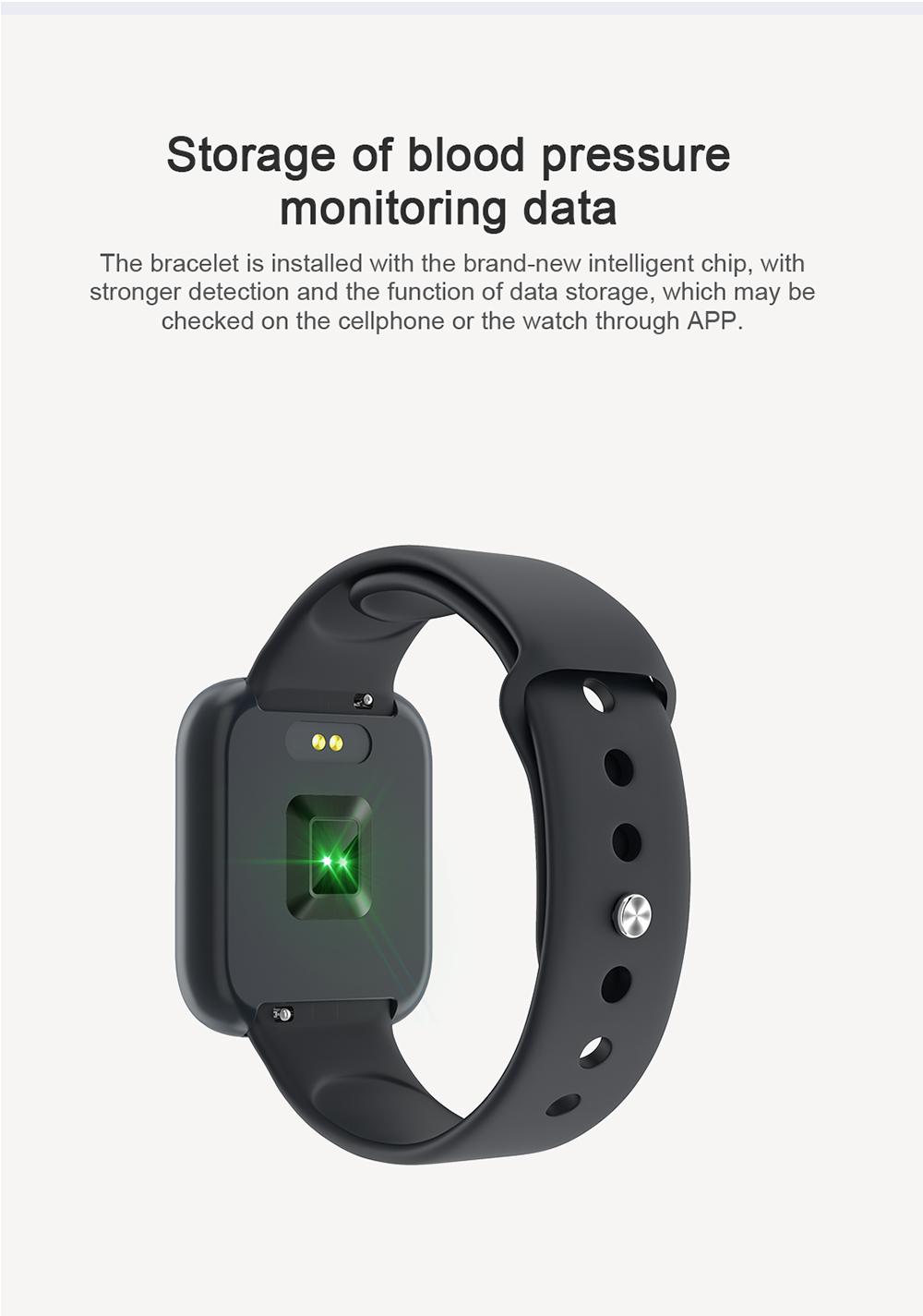 Reloj inteligente impermeable T80 Bluetooth 5