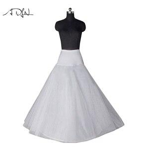 Image 1 - Neu Kommt Hohe Qualität EINE Linie Hochzeit Braut Petticoat Unterrock Krinolinen Erwachsene für Hochzeit Kleid