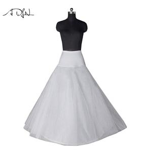 Image 1 - 새로운 도착 고품질의 라인 웨딩 신부의 페티코트 Underskirt Crinolines 성인 웨딩 드레스