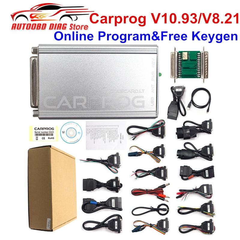 Обновленный чип Carprog V10.93 Carprog V8.21, чип CarProg 10,93 ECU, инструмент для настройки автомобиля, полный комплект с 21 адаптером