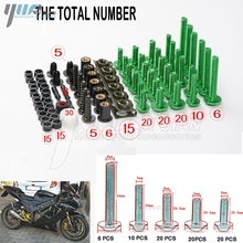 Universal CNC Motorcycle Fairing Bolts Kit Body Fastener Clips Screws FOR  kawasaki z750 z800 z1000 er6n zx6r ninja 300 z1000sx
