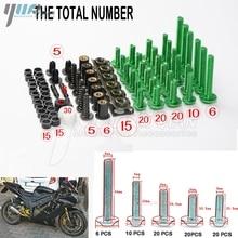 Universal CNC Motorcycle Fairing Bolts Kit Body Fastener Clips Screws FOR  kawasaki z750 z800 z1000 er6n zx6r ninja 300 z1000sx