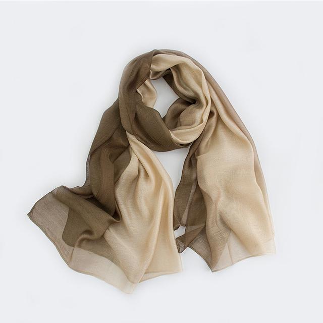2016 Moda Cor Gradiente de Seda Lenço Xailes Cachecol Mulheres Moda Marca de Luxo Tamanho Grande Foulard Sciarpe Donna Rl21