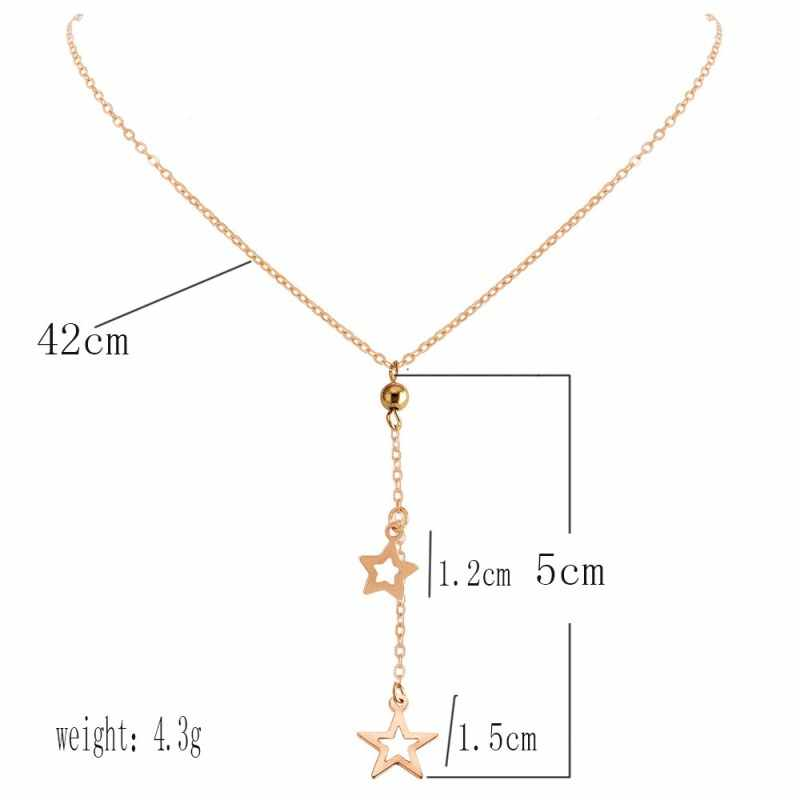 Fashion Jewelry 2019 New Bohemian Ethnic Long Tassel Gold Star Pendant Personality Necklaces for Women Modern Accessories Collar