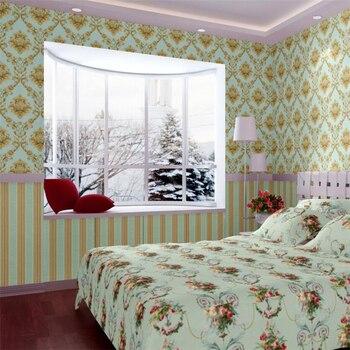 beibehang Wallpaper Europe 3D embossed Damascus pvc wallpaper home improvement bedroom living room main loading wallpaper