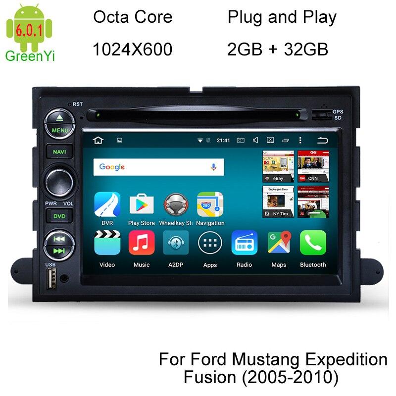 imágenes para HD 1024*600 6.0.1 Android Octa Core Coches Reproductor de DVD Para Ford Focus Edge Expedición Mustang Escapar Freestyle Taurus GPS Navi Radio