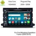 HD 1024*600 Android 6.0.1 Octa Ядро Dvd-плеер Автомобиля Для Ford Focus Пограничном Экспедиции Mustang Побег Freestyle Телец GPS Navi радио