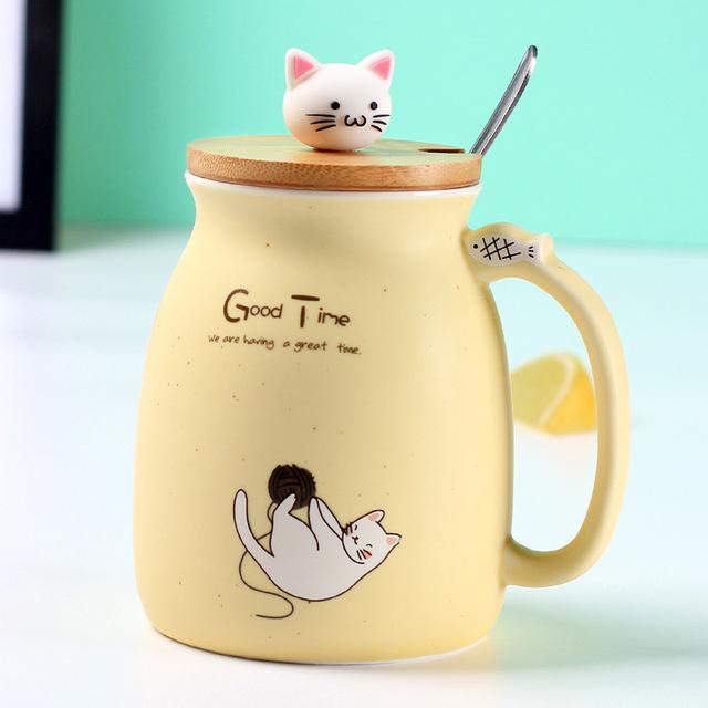 Creative Good time Kitty mug