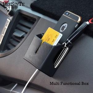 Image 2 - سيارة حامل هاتف صندوق تخزين في مقبس سيارة أسود ل هاتف ذكي لا حامل مغناطيسي دعم العالمي ل iphone samsung الساخن