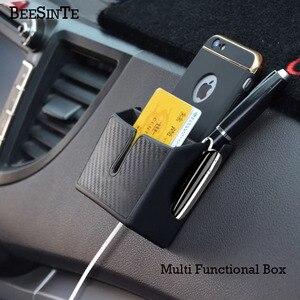 Image 2 - Car Phone holder storage box in Car socket Black for smart phone No Magnetic Holder Support Universal for iphone samsung Hot