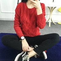 12 Color Hot 2017 New Autumn Winter Women Cotton Elastic Twist Sweater Lady Knitted Long Sleeve