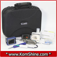 Komshine KIC 07D Upscale Fiber Optic Inspection And Cleaning Kits KIP 500V Fiber Probe / SC FC ST LC Connector Cleaner