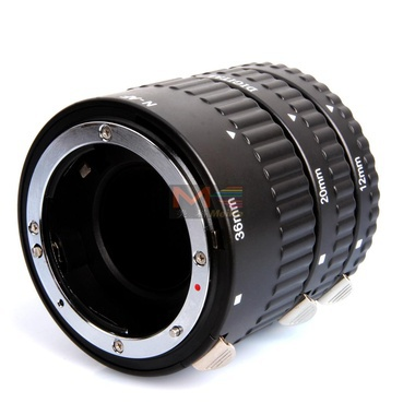 Meike MK-N-AF-A Metal Auto Focus AF Macro Extension Tube Set for Nikon Camera D60 D90 D3000 D3100 D3200 D5000 D5100