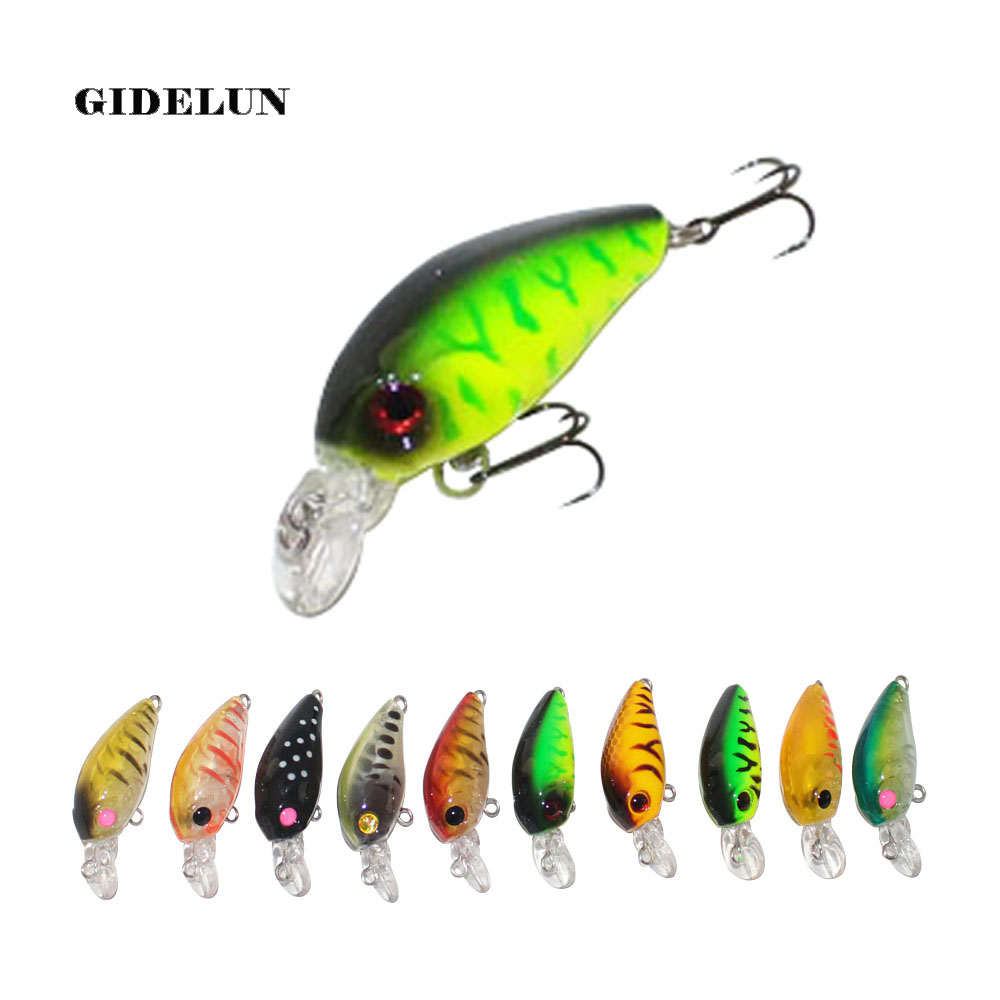 new fishing lure 4.5cm 3.3g VMC hook bass bait black fish lure hard lure crank lure