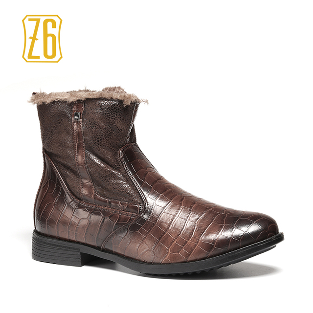40-45 men winter shoes warm 2017 comfortable working safety men winter boots #GK8007-3