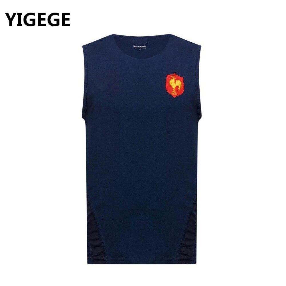 79a35b76466 YIGEGE France 2019 Rugby jersey HOME Alternate Shirt Rugby Jerseys France  Singlet vest League Sweatshirt s
