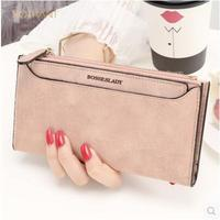 Women's wallet Women's long zipper Japanese and Korean small fresh change student wallet wallet fashion solid color Hasp