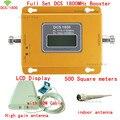Pantalla LCD Full Set DCS booster 70dB 500 metros cuadrados 4G DCS 1800 Mhz Teléfono Celular Amplificador de Señal Móvil/amplificador/repetidor kit