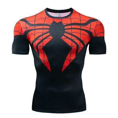 Мстители эндгейм футболка Квантовая царство компрессионная с коротким рукавом для мужчин тренажерный зал Спорт Фитнес окрашенные футболки спортивная одежда для мужчин - Цвет: DX-043