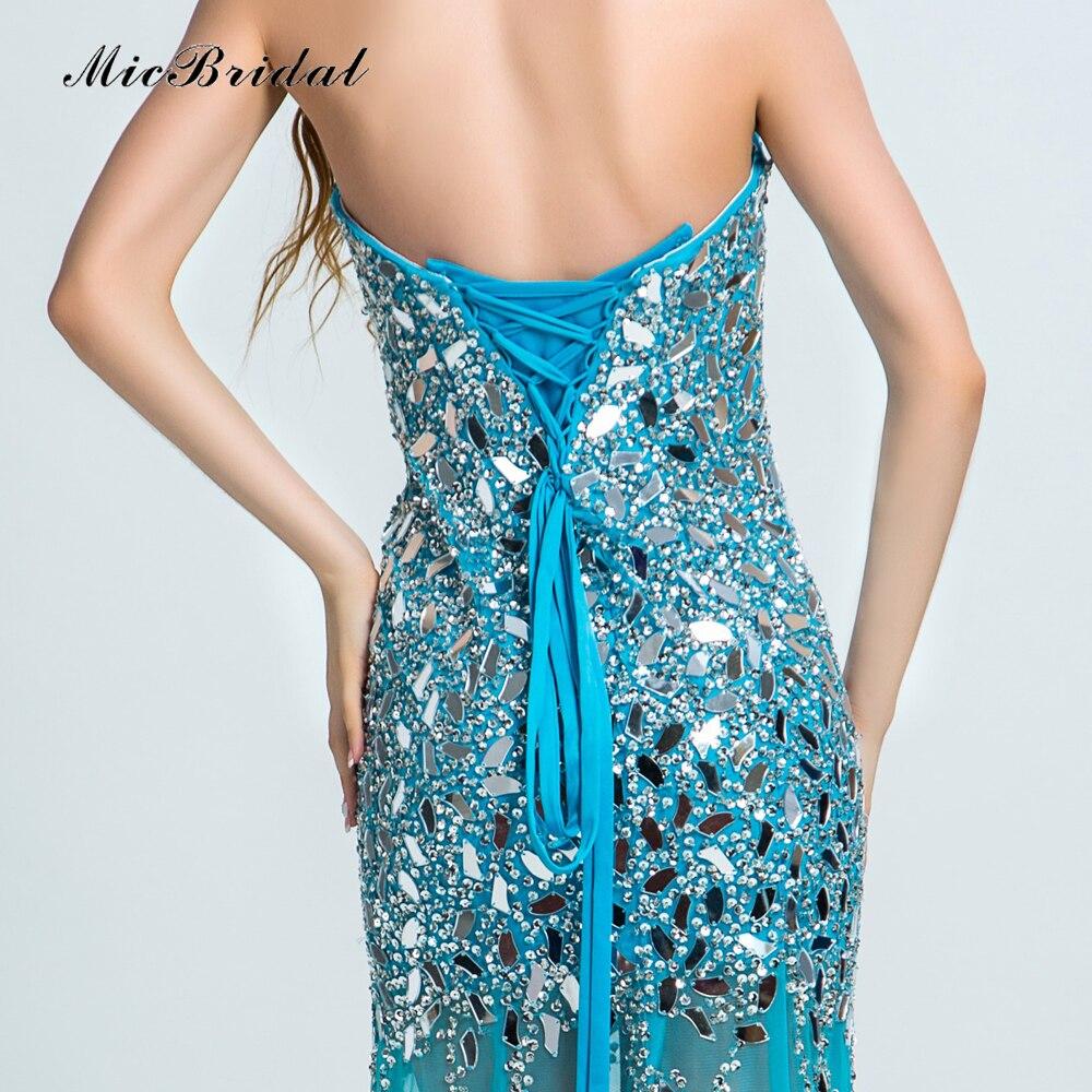 5f2866e60fee MicBridal Sparkly Long Blue Evening Dress with Stones Abiti da Cerimonia da  Sera MY 075 2016 Sweetheart Luxury Party Dress-in Evening Dresses from  Weddings ...