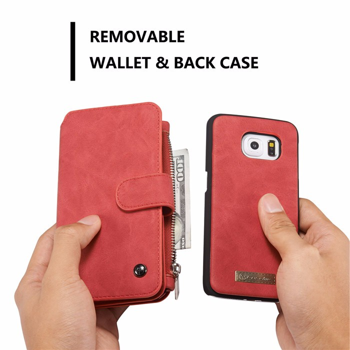 Wallet case For Samsung Galaxy S6 S6 Edge Edge Plus Genuine Leather Phone Case Bag Multi-functional Back Cover 14 Cards Holder (8)