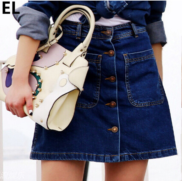 Aliexpress.com : Buy Summer Style Skirts Women Fashion Denim ...