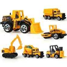 6 Types Diecast Mini Alloy Construction Vehicle Engineering Car Dump-car Dump Truck Model Classic Toy Mini Gift for Boy ZJD