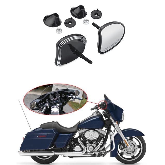 10mm Motorcycle Fairing Mount Rear View Rearview Side Mirrors For Harley 2014 2017 Electra Street Tri