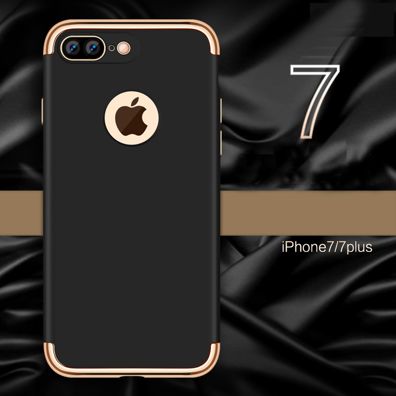 iphone 7 black and gold. aliexpress.com : buy vpower plating case for iphone 7 plus gold black luxury thin back hard armor apple iphone 6 cover from and n