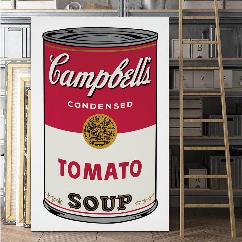 Pop Art Print Wall Painting Andy Warhol Tomato Soup ...