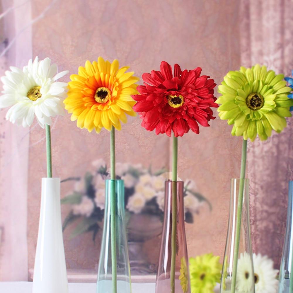 New 1pcs Artificial sunflower silk flower wedding decoration fake ...
