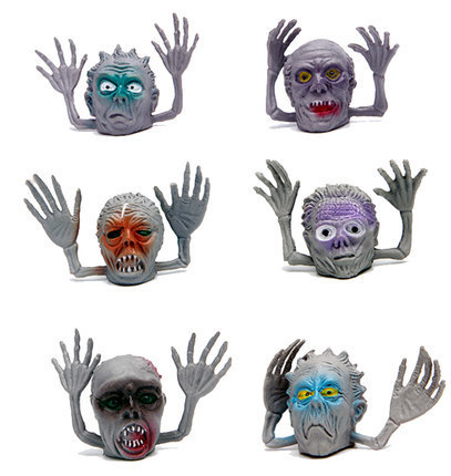 3Pcs / Bag Of Ghosts Halloween Monster Puppets Play Dolls Novelty Gag Toys Children's Fingers Gifts Tell Stories Horror Unisex
