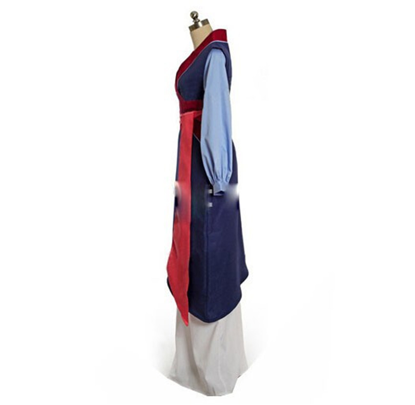 Image 3 - Hua mulan cosplay dress mulan princess dress high quality mulan princess costume for adult women blue mulan cosplay-in Movie & TV costumes from Novelty & Special Use