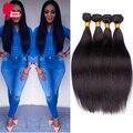 4Pcs Straight Human Hair Bundles 8A Brazilian Hair Weave Bundles Rosa Queen Hair Products Brazilian Straight Virgin Hair Bundles