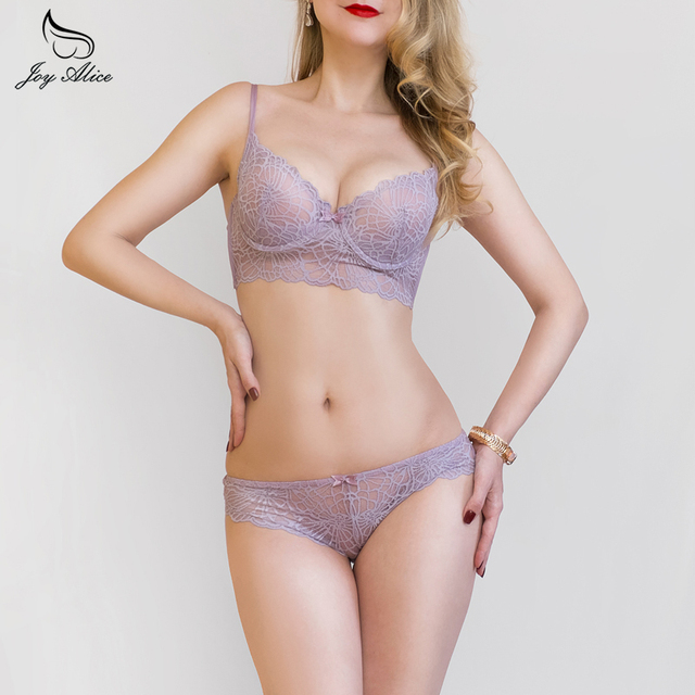 2017 new fashion B C D Cups Lace Bra Set women's Underwear Women Lingerie set Sexy Panties transparent and thin Bra & brief Sets