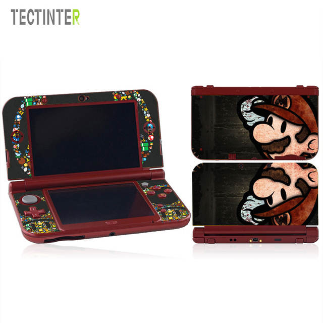 Mario Protector Vinyl Skin Sticker for Nintendo New 3DS XL & New 3DS LL  Console Cover Decal