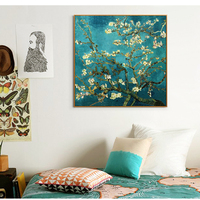 Full Diamond Embroidery World Famous Almond Blossom By Vincent Van Gogh 50cm 50cm Diy Diamond Painting